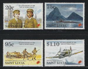 St Lucia 1995 End of World War II set Sc# 1018-21 NH