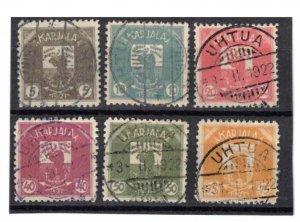 Karelia (northern) - 1922. 6 stamps, CV 330£ (approx $425)