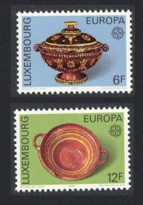 Luxembourg Europa CEPT 19th Century Pottery 2v SG#968-969 SC#585-586