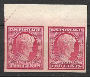 Doyle's_Stamps: Scott #368* Pair Lincoln's Birth Anniversary  (WL10)