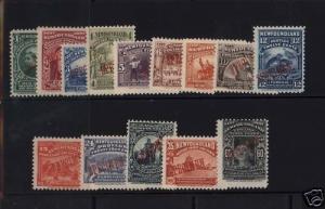 Newfoundland #61SP - #74SP NH Mint Red Specimen Set