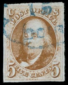 momen: us Stamps #1b Used Orange Brown PF Cert VF+