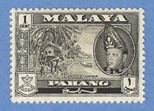 Malaya Pahang 72 MH Pencil Mark - Copra, Sultan Abu Bakar