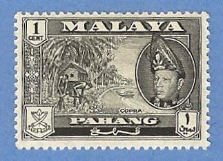 Malaya Pahang 72 MH Pencil Mark - Copra, Sultan Abu Bakar