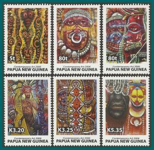 Papua New Guinea 2006 Contemporary Art, MNH  #1210-1215,SG1121-SG1126
