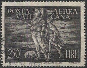VATICAN CITY Italy 1948  Sc C16  Used 250L Archangel Raphael