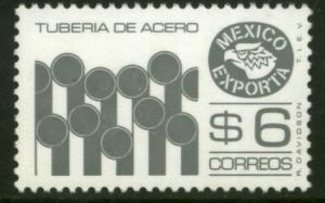 MEXICO Exporta 1121C $6P Pipes Perf 11 1/2 Fluor Paper 7 MINT, NH. VF.