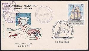 ARGENTINE ANTARCTIC cover 1968 Visit of the Pope............................8209