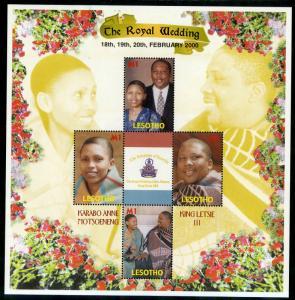 LESOTHO 1222 MNH S/S SCV $3.75 BIN $2.00 THE ROYAL WEDDING