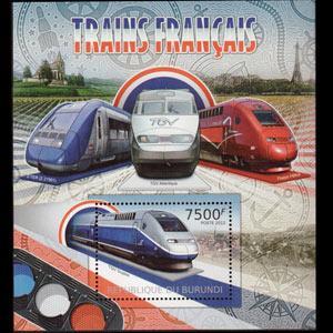 BURUNDI 2012 - Scott# 1082 S/S French Train NH