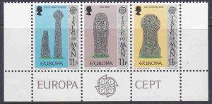 Isle Of Man MNH Strip 136a Europa Gravestones