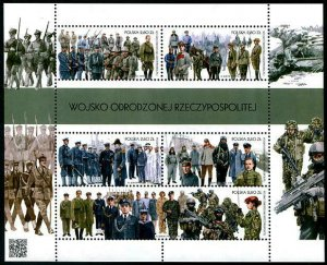 HERRICKSTAMP NEW ISSUES POLAND Army of the Reborn Republic Sheetlet