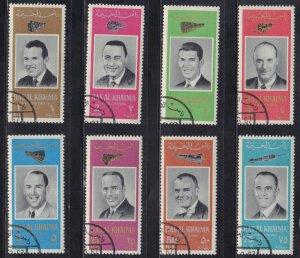 RAS LA KHAIMA  USA ASTRONAUTS  CTO   1966  SEE SCAN