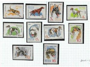 Russia/USSR 1965, Dogs, Complete issue Scott # 3000-09 ,VF MLH*OG (KON)
