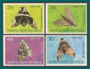 Papua New Guinea 1998 Moths, MNH #940-943,SG833-SG836