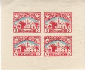 Stamp Label Spain Sheet WWII Label Cinderella Franco Civil War Ayamonte Red MH
