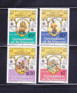 St Vincent Grenadines 271-274 Set MNH Treaty of Versailles B