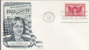 1948, Honoring Francis Scott Key, Artmaster, FDC (D14904)