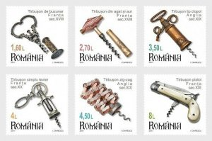 Stamps Romania 2017. - Romanian Collections- Corkscrews (II) - Set