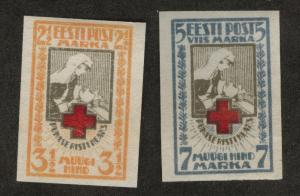 Estonia Scott B5-6 MNG Semipostal stamp set 1921