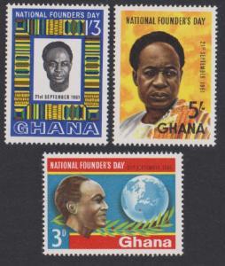 Ghana Founder's Day 3v SG#268-270