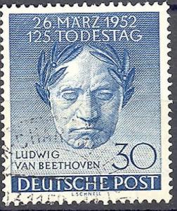 Germany #9N80 Beethoven Used