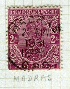 INDIA; POSTMARK fine used cancel on GV issue, Madras