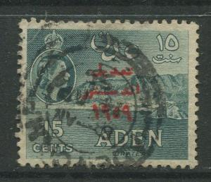 STAMP STATION PERTH Aden #63 - Revised Constitution 1959  Used  CV$2.00.
