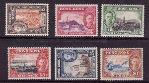 Hong Kong-Sc#168-73-unused hinged KGVI set-100 years British Rule-1941-