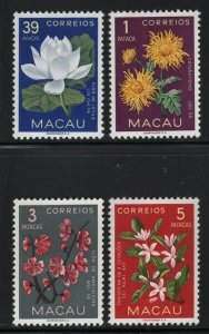 Macao 1953 Flower set Sc# 372-81 NH
