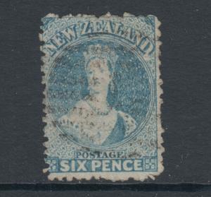 New Zealand Sc 41a, SG 136, used 1873 6p pale blue QV, perf 12½, sound, Cert.