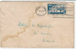 Ireland 1937 Gaillimh Cancel Slogan Cancel Stamp Cover to Gaillimh Ref 34790