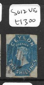 CEYLON (PP0302B) CHALON QV  2/-  SG 12 COPY 2   VFU