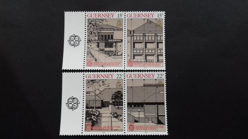 Guernsey 1987 EUROPA Stamps - Modern Architecture Mint