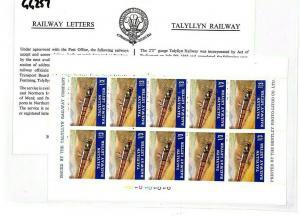 GB WALES Railway Stamps Block of 10 Talyllyn Railway{samwells} GG257