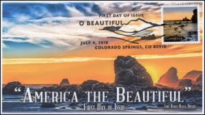 18-192, 2018, O' Beautiful, First Day Cover, Pictorial Postmark, Lone Ranch Beac