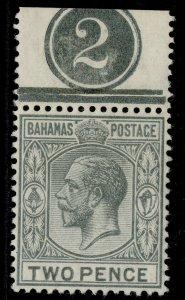 BAHAMAS GV SG83, 2d grey, VLH MINT. CONTROL
