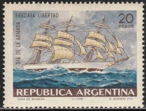 ARGENTINA, 858, NAVY DAY. MINT, NH. F-VF.. (377)