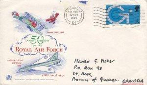 1969, Great Britain: 50th Anniv. Royal Air Force, FDC (D13140)
