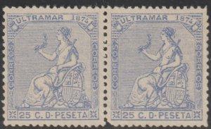 1874 Cuba Stamps Sc 59 Allegorias Puerto Rico Spain Pair NEW