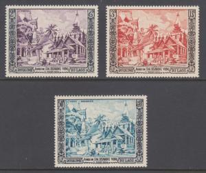 Laos Sc 25/C13 MNH. 1954 Laotian Temples, complete set, fresh, F-VF.