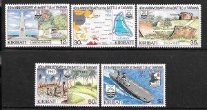 Kiribati 431-435: Battle of Tarawa, MH, VF