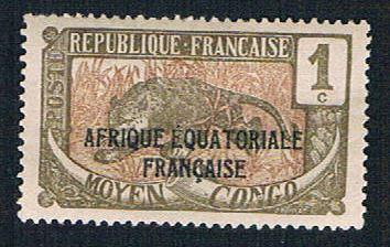 Middle Congo 23 MLH Leopard overprint (BP1086)