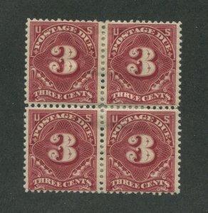 1895 United States Postage Due Stamp #J40 Mint Hinged F/VF OG Block of 4