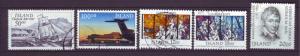 J18077 JLstamps 1987 iceland used #637-41, $5.35 scv designs
