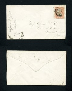 # 65 on cover from Avondale, PA to Pittsburgh, PA dated 1-18-1860's