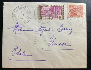 1932 Cayenne French Guiana Cover To Triest Italy Sc#137