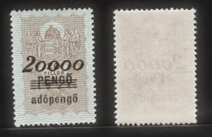 Hungary 1934 Old Rev King's Crown & Angles (20000 Pengo) MNH
