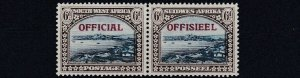 SOUTH WEST AFRICA  1945 - 50  S G 022  6D  BLUE & BROWN   OFFICIAL  MH