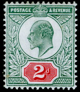 SG228 SPEC M12(3), 2d pale grey-green & scarlet (CHALKY), NH MINT. Cat £80.